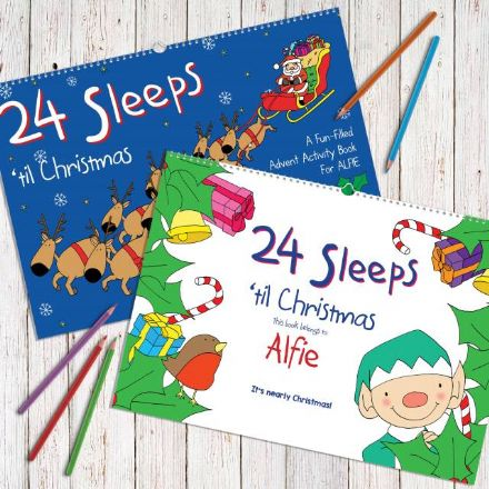 Personalised 24 Sleeps 'til Christmas A3 Book